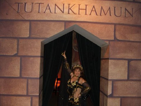 Soraya at King Tut exhibit